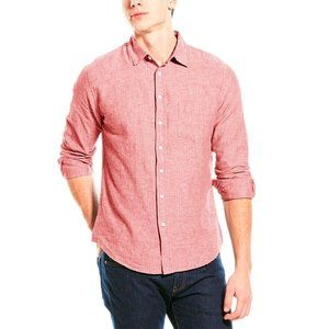Onia Abe Linen Antique Red Button Down Shirt
